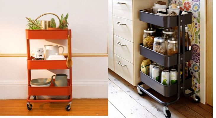 Trolley Storage small house makeover home renovation